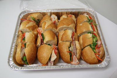 pacifica sailing charters catering sandwiches