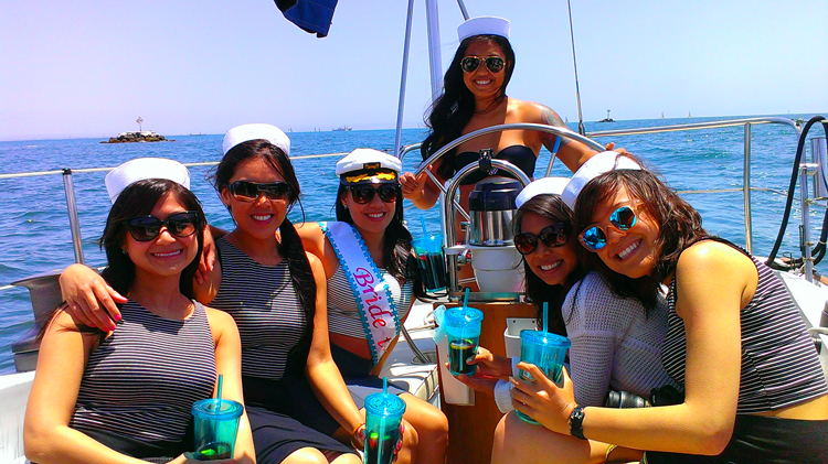 bachelorette sailing party